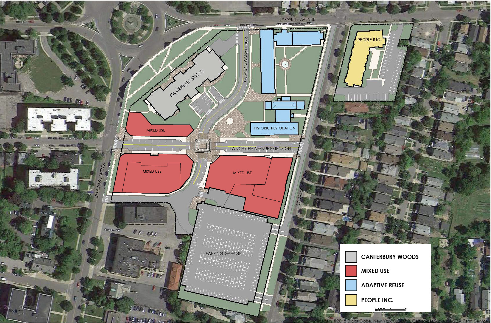 Lancaster Square at Gates Circle – Site Plans Are Developed Using An